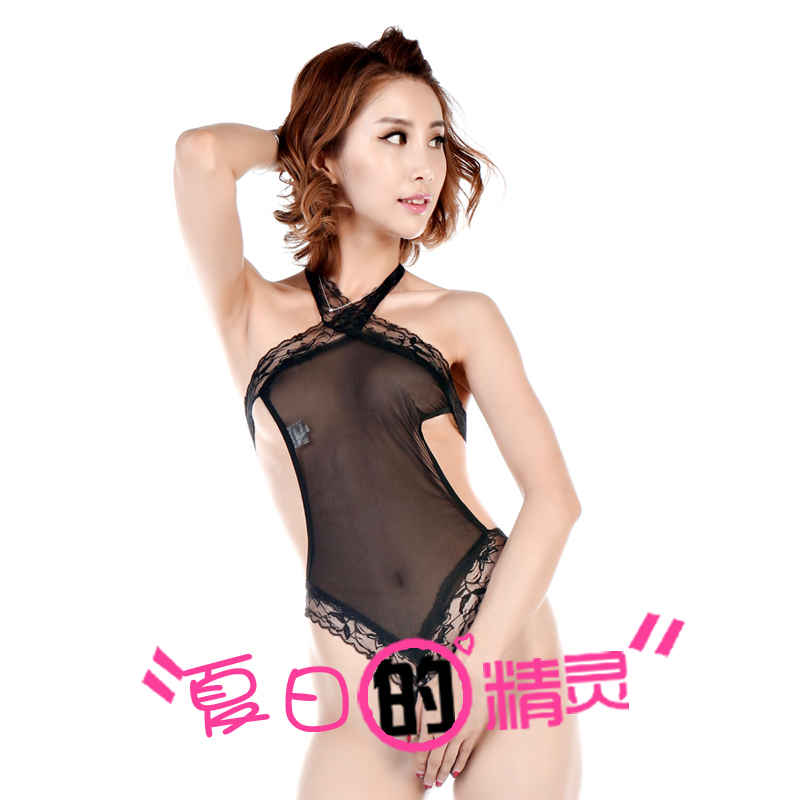 Phantom of openwork lace halter open files perspective piece pajamas sexy pajamas qj