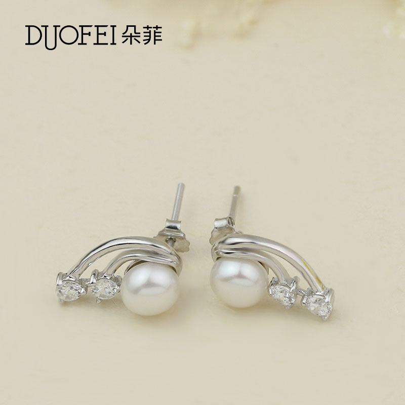 Philippine flowers female models fashion japan and south korea personalized fashion romance s925 silver pearl ear rings earrings female models fall and winter accessories