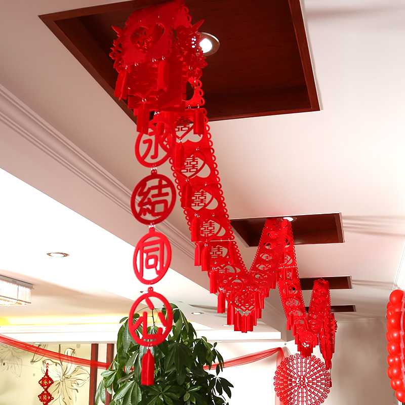 Philippines to find a flannel hi word garland pull hi hi creative marriage room decorated and furnished wovens chinese pull flower wedding supplies