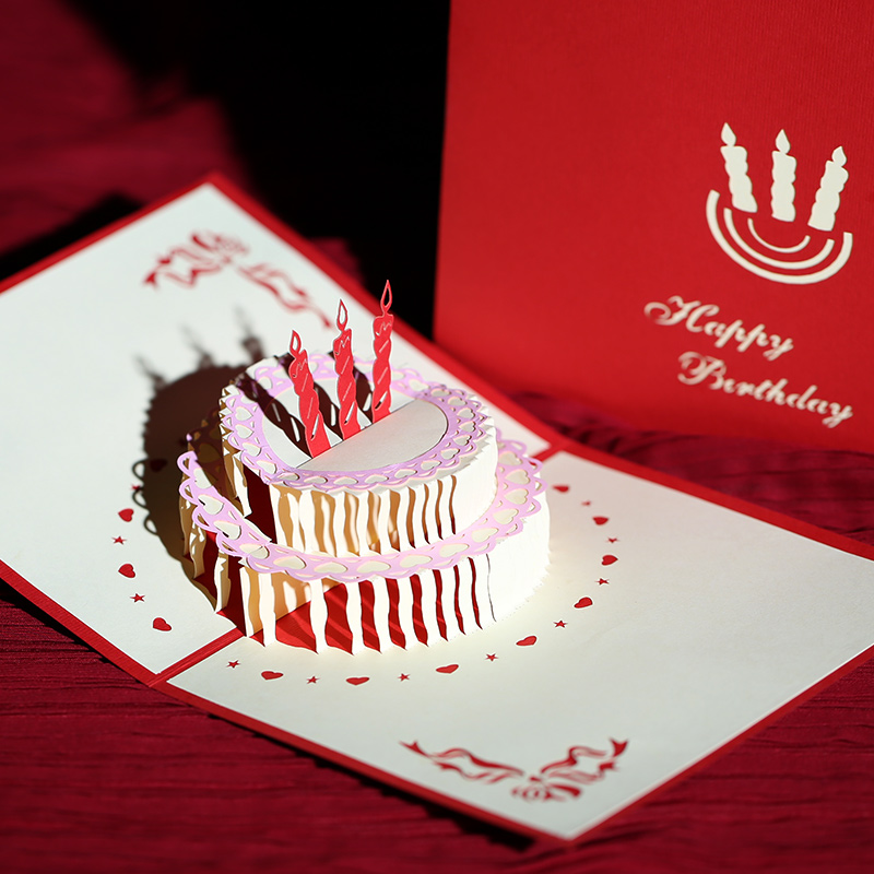 Philippines to find creative stereoscopic 3d handmade greeting cards diy personalized custom greeting cards business staff birthday card