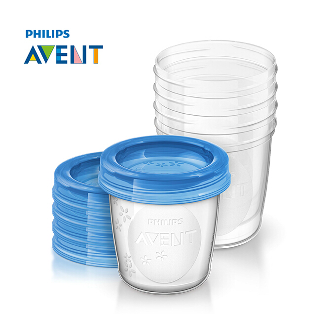 Philips avent via breast milk storage cups milk storage cup group 180 ml * 5 only SCF619/05