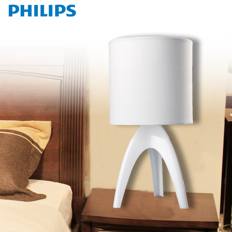 Philips lamp table lamp creative fashion decorative table lamp bedroom bedside reading study special isa card 43228