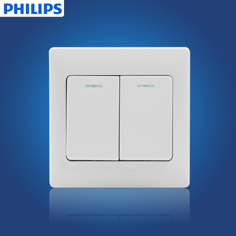 Philips/philips switch socket q7 slim two large toggle switch dual dual control