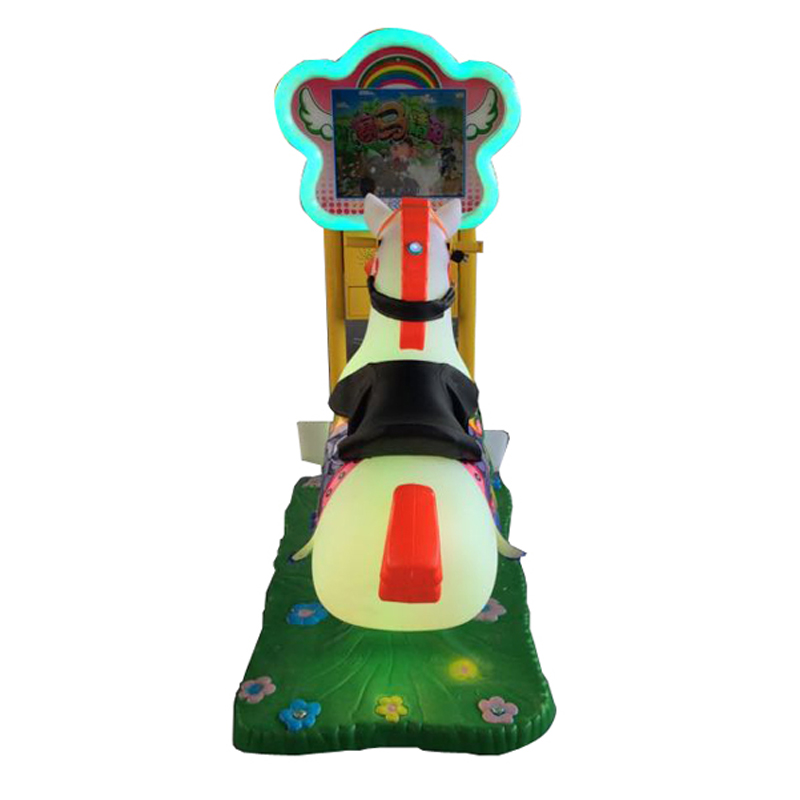 Photosynthetic children electric coin shook his car swing car racing video game machine 3d electric coin swing machine