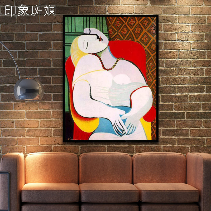 Picasso painted oil painting modern living room entrance study bedroom minimalist paintings abstract figure painting decorative painting