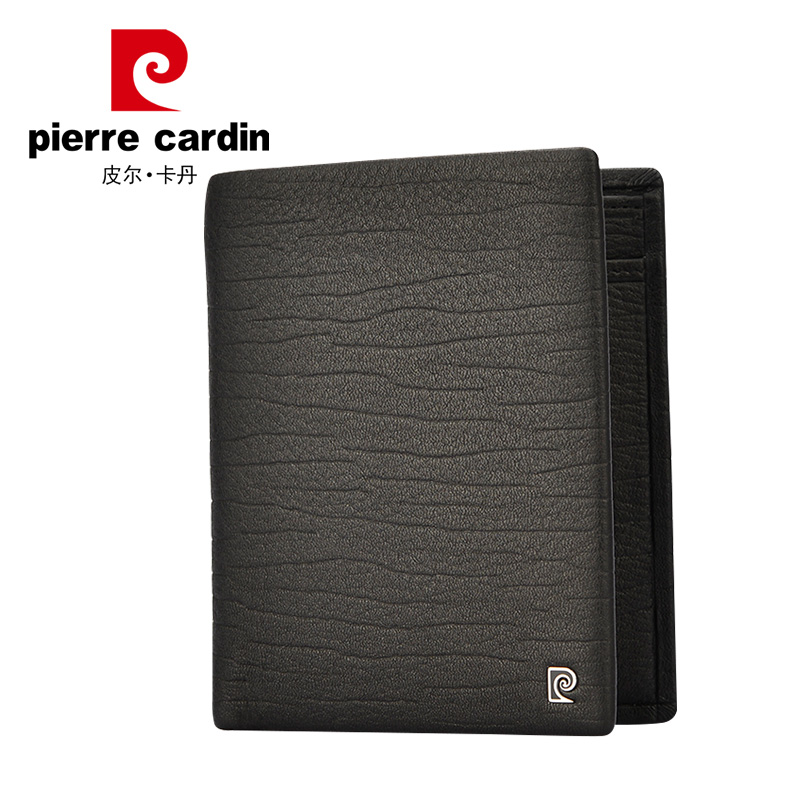 Pierre cardin buckskin wallet young men wallet short paragraph wallet men short paragraph vertical section wallet qianbao