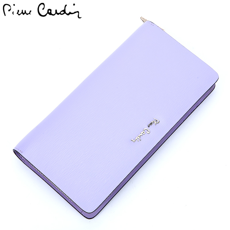 Pierre cardin ladies leather wallet long section of female korean fashion women leather clutch wallet zipper handbag