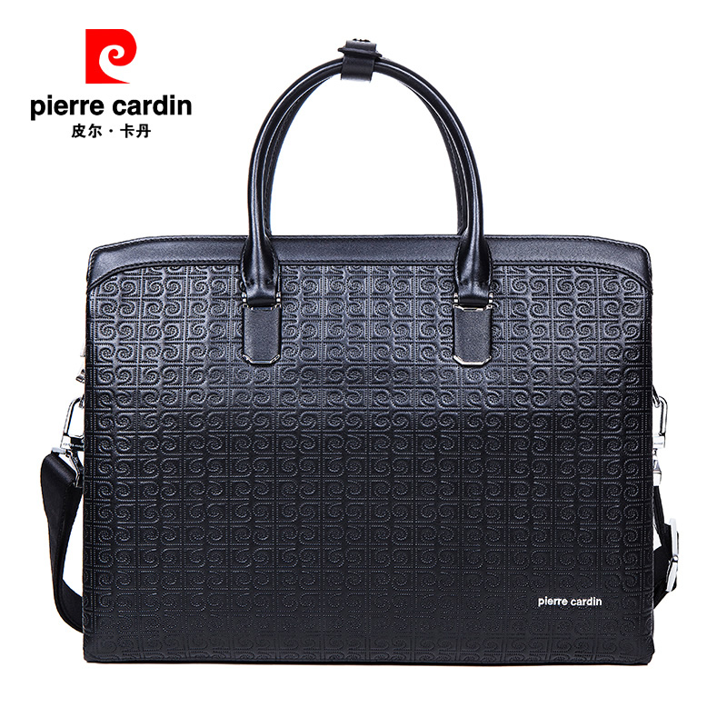 Pierre cardin/pierre cardin business men leather briefcase handbag european and american fashion leather clutch bag