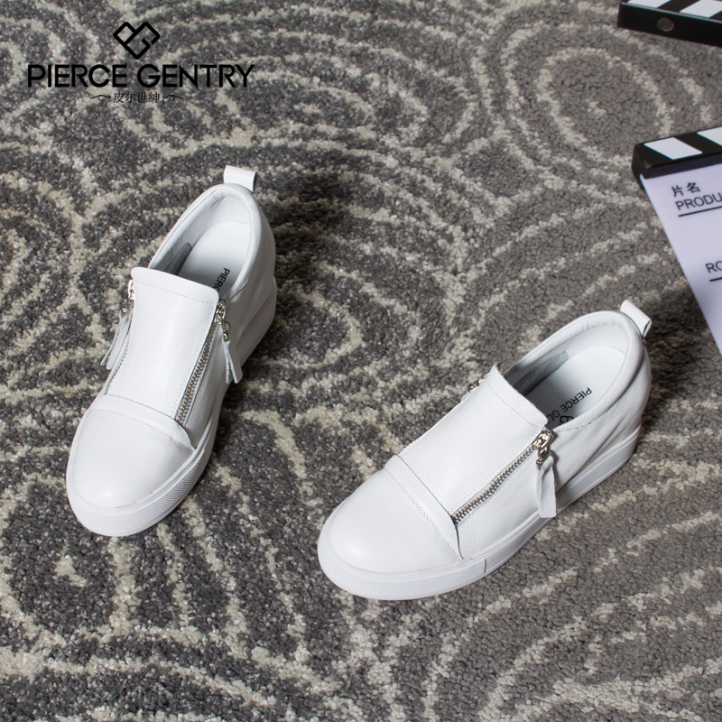 Pierre world gentry shoes increased within 2016 spring new korean version of casual white shoes flat shoes singles shoes lazy man