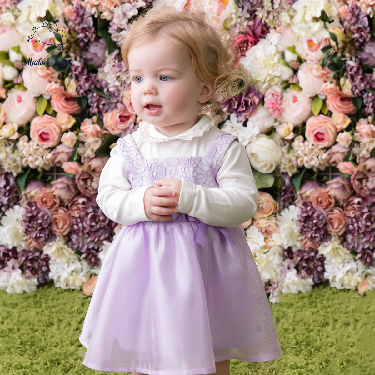 8e6d7d57cd51 Get Quotations · Pig wheat are new harness dress baby girls bow princess  skirt summer cotton baby clothes