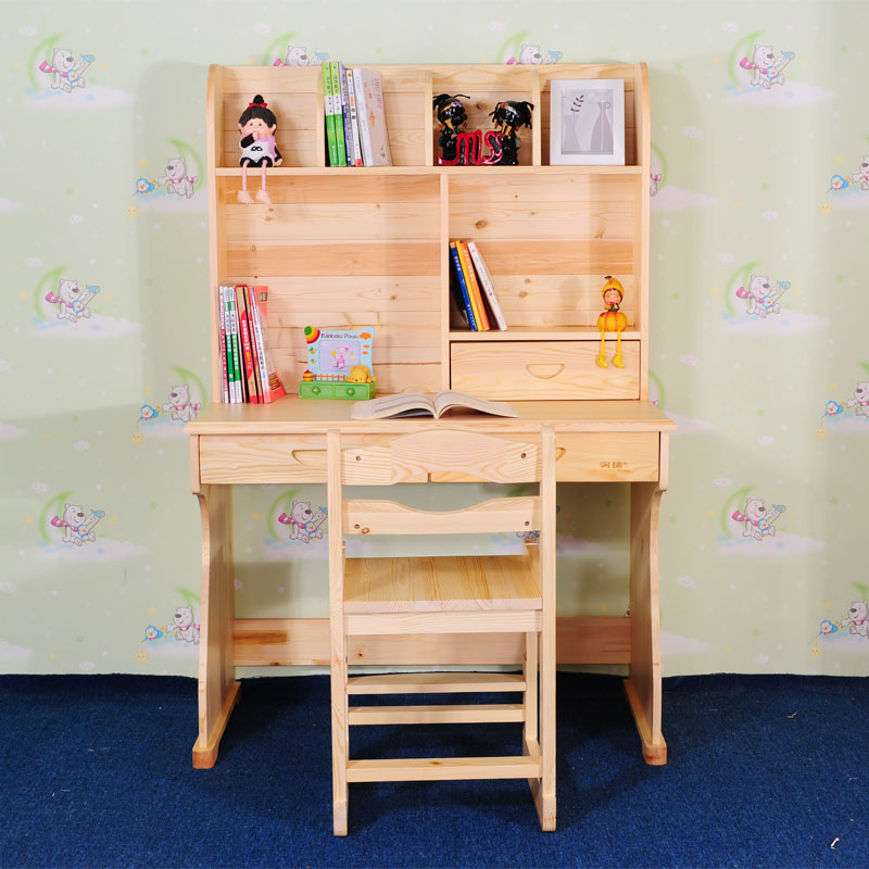 Get Ations Pine Wood Home Computer Desk Bookcase Children Study Tables Modern Minimalist Small