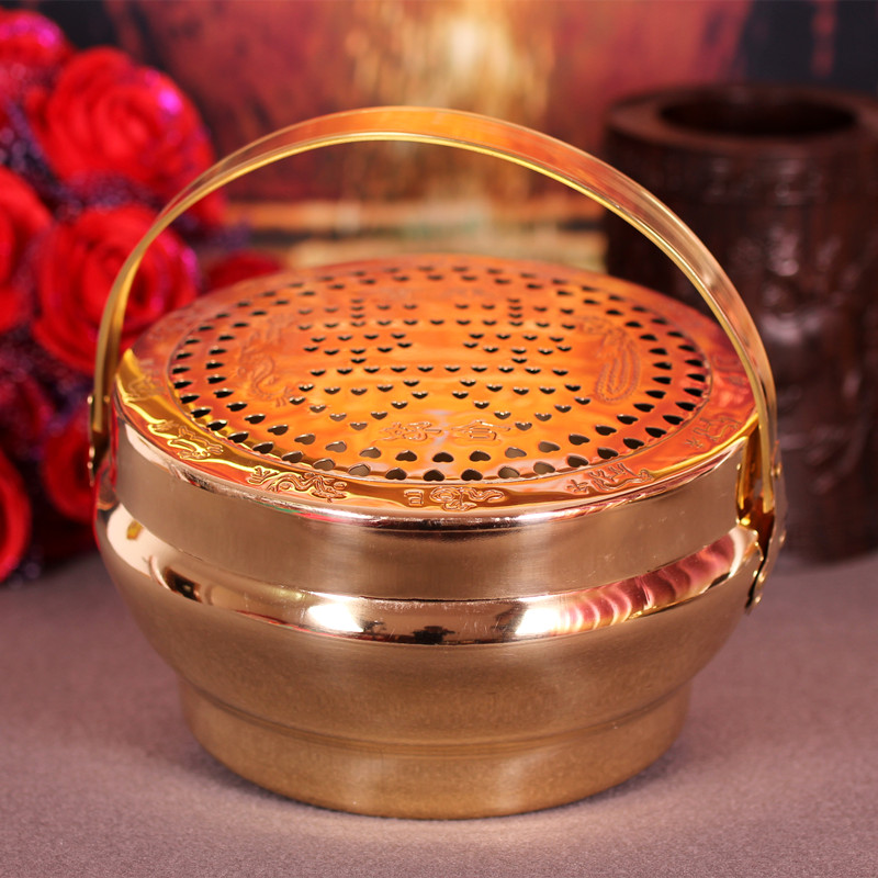 Pink love you dowry wedding wedding supplies copper copper stove fire chimney pots wang wedding supplies dowry