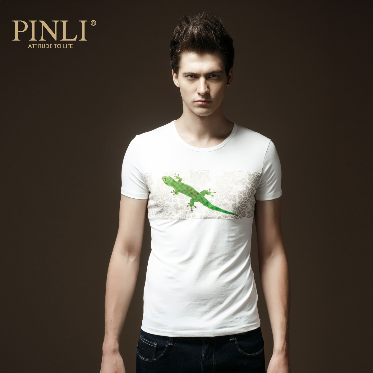Pinli products stand 2015 new spring and summer men's fashion slim round neck short sleeve t-shirt men bottoming shirt tide 3788