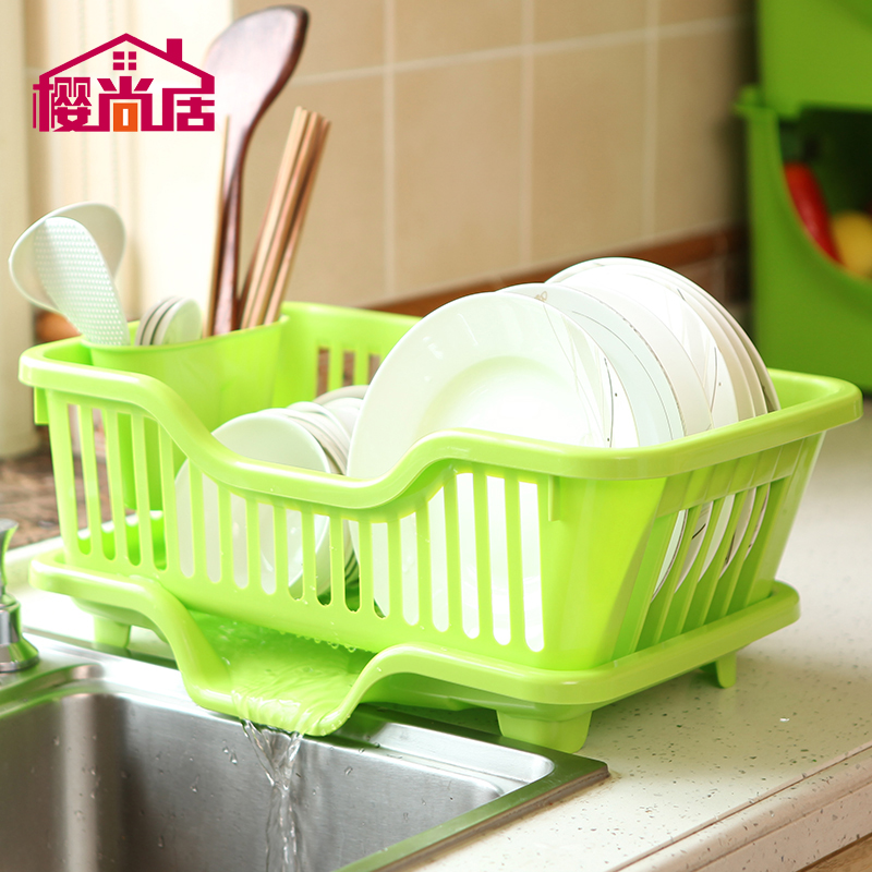 Plastic drip dish rack dish rack kitchen dishes drain drain rack shelving racks jiaojia kitchen cupboards kitchen small pieces of kitchen appliances
