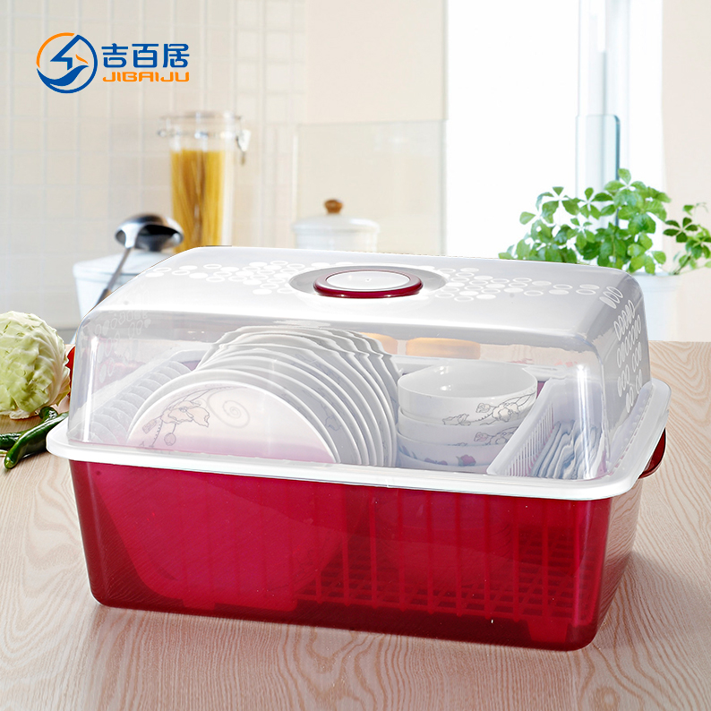 Plastic Kitchen Cupboards Drain Rack Dish Covered Dishes Drip Cutlery Storage Box To Put The Shelving In Price On
