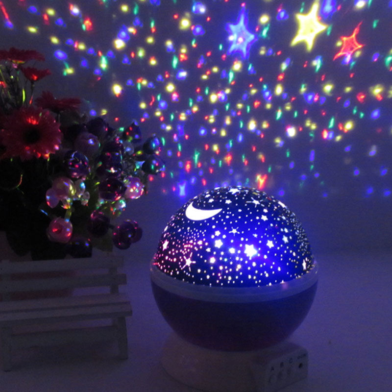Play is still rotating star projector lamp creative romantic gift to send their children male and female friends girlfriends classmates birthday gift