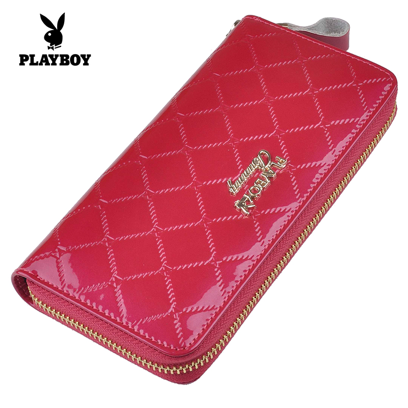 Playboy genuine new plaid clutch bag ladies leather bag simple when shang korean mobile phone bag