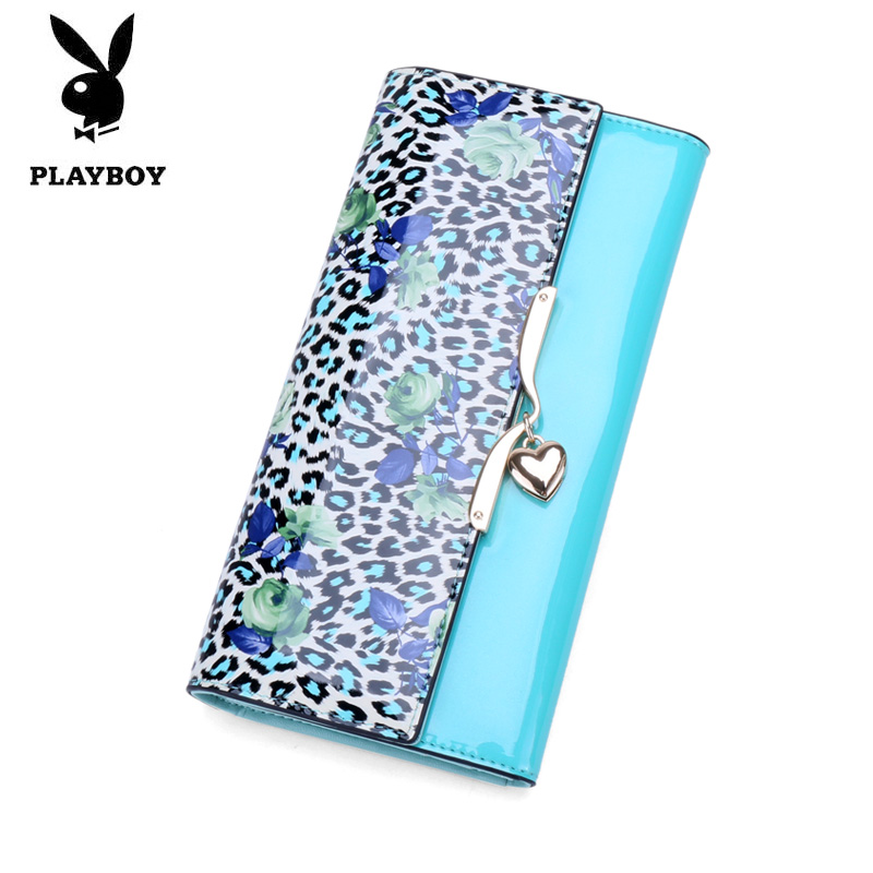 Playboy men's long wallet ladies fashion leather handbag genuine leather clutch bag large capacity clutch bag phone package