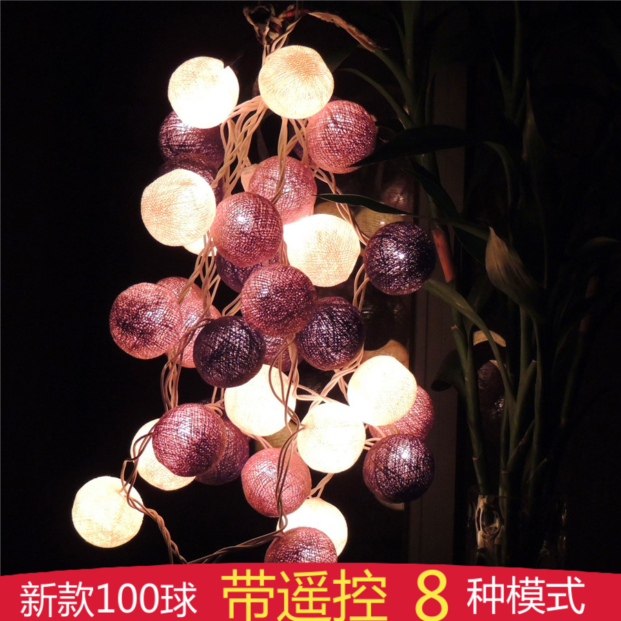 Poem maha thai line ball ball lamp lantern string lights wedding lights flashing battery le d string lights night lights romantic