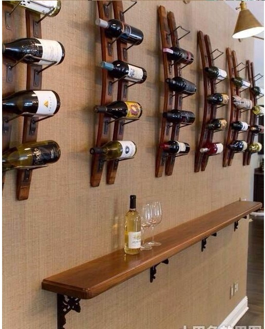 Poly baoli wood wall mounted wine rack wine rack creative wine rack wine rack hanging wine rack wine bar wine wall decorative frame