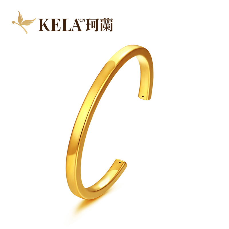 [Poly] kelan gold 3d hard gold bracelet ms. bracelet simple fashion tide glossy matte wedding gifts h