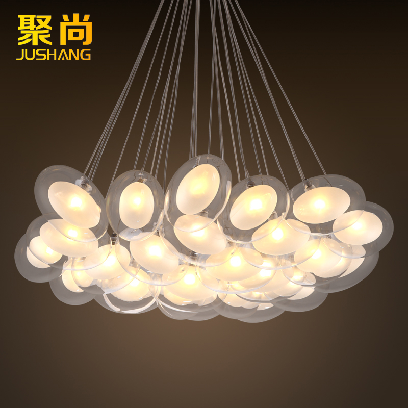 Poly yet simple and modern oval ball glass ball chandelier creative arts bedroom living room dining room den chandelier
