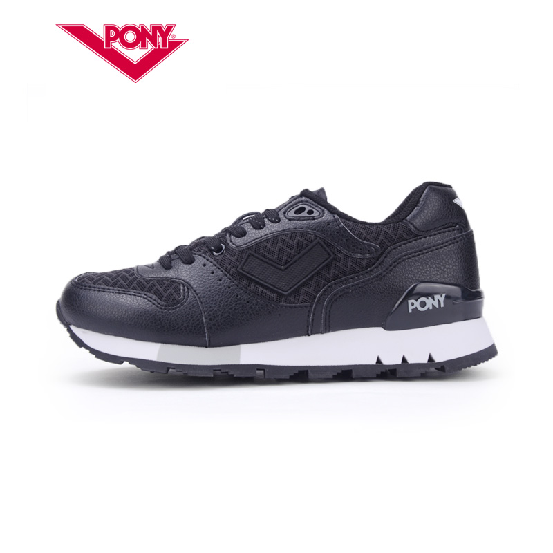 Pony shoes 2015 summer new sneakers mark 8 retro black and white running shoes 52W1MK64RW/bk