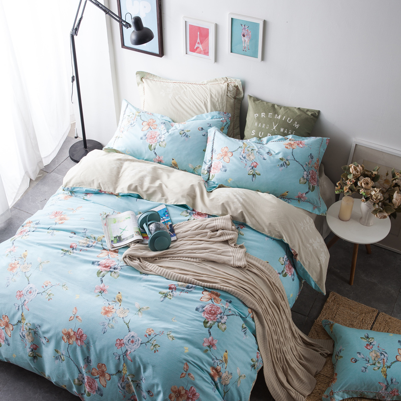 Popeye korean version of the minimalist style cotton denim cotton denim 1.5/m bed linen quilt bedding