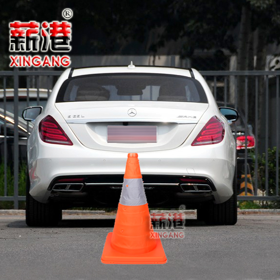 Port salary 40CM high car special folding car retractable traffic cone road cone road cone barricades reflective road cone ice cream cones
