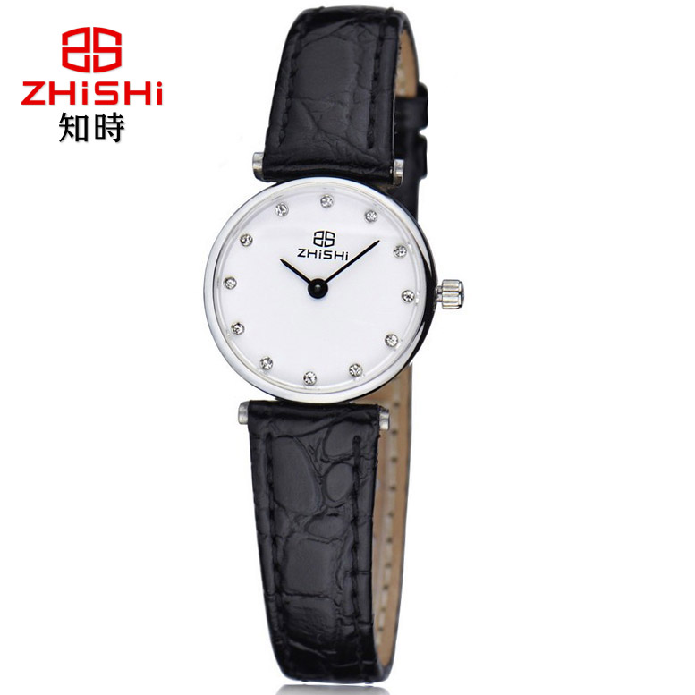 Positive brand know when business fashion simple super thin quartz watch really belt ladies watches quartz watch waterproof female form