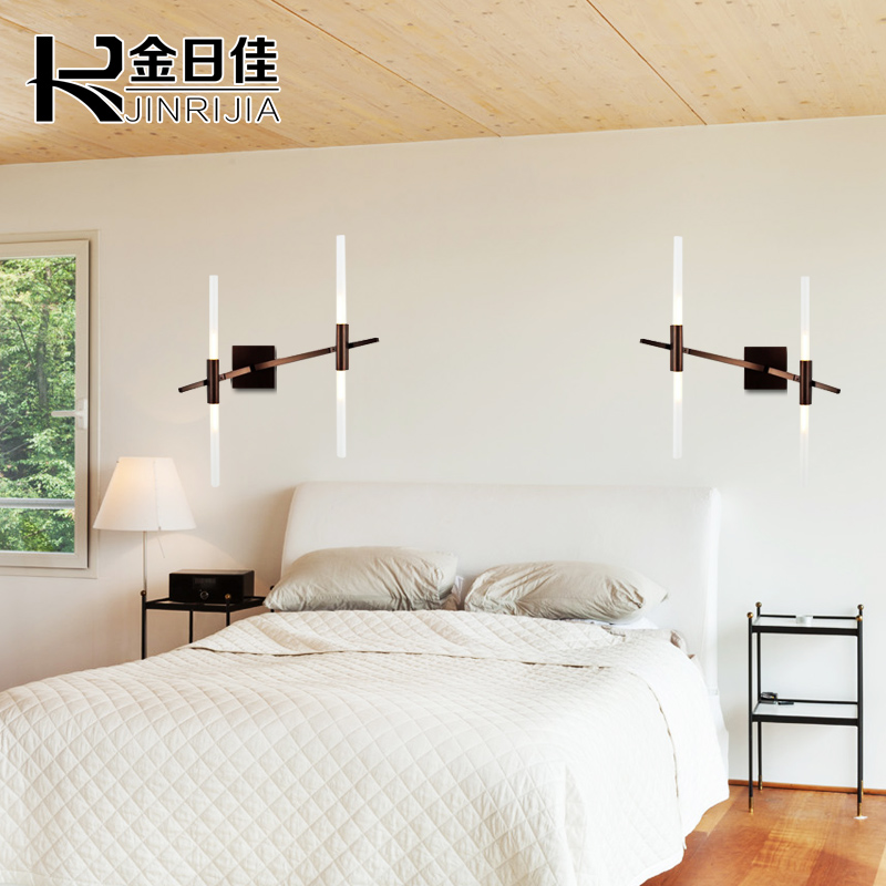 Post modern minimalist wall lamp wall lamp minimalist modern roll over the road garden bedside lamp bedroom living room dining hallway wall sconce