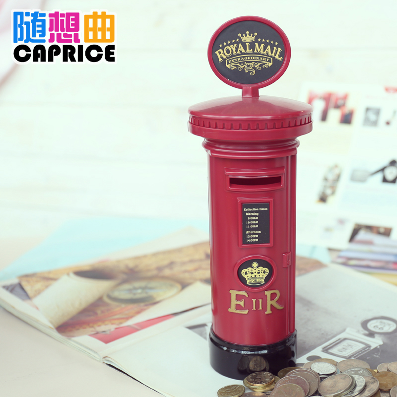 Postal barrel piggy piggy oversized children's piggy piggy bank change coin box plastic creative cute gift