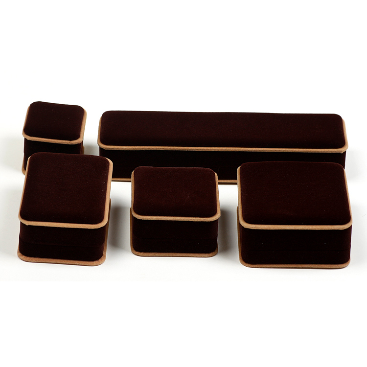 Prachanda brown velvet jewelry box bracelet box bracelet box jewelry box necklace pendant earrings box