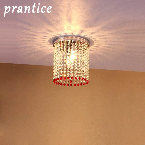 Prang otis hall aisle lights led crystal ceiling lamp modern minimalist color circular lamps lighting
