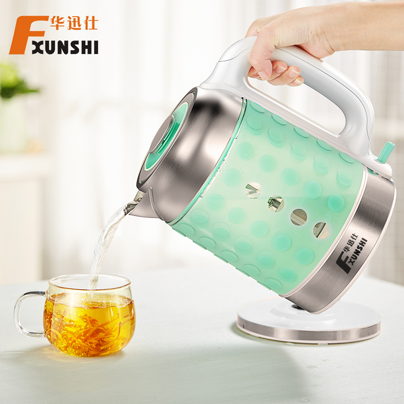 Pre-2015 fxunshi/hua xun shi MD-326 glass electric kettle household type 304 stainless steel kettle boiling teapot