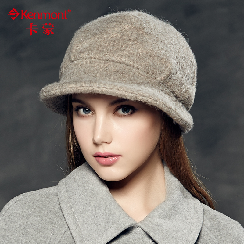 Preferential carmon hat female autumn and winter woolen beret hat small hat female british retro wool fedora hat 2348
