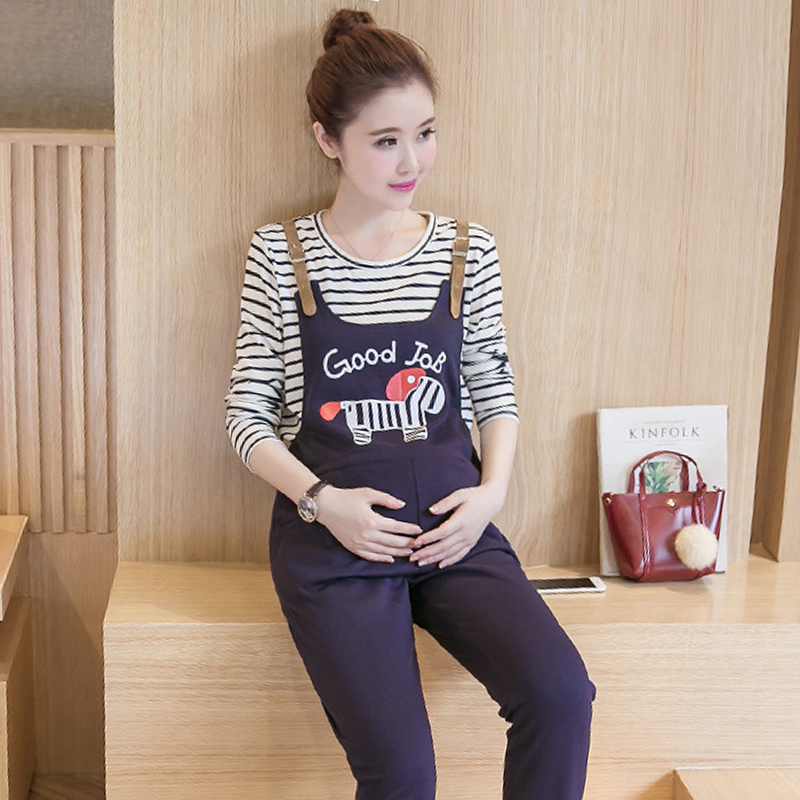 4b84e8792ecc2 Get Quotations · Pregnant maternity overalls maternity pants pregnant women  pregnant autumn autumn maternity pants trousers fashion care of