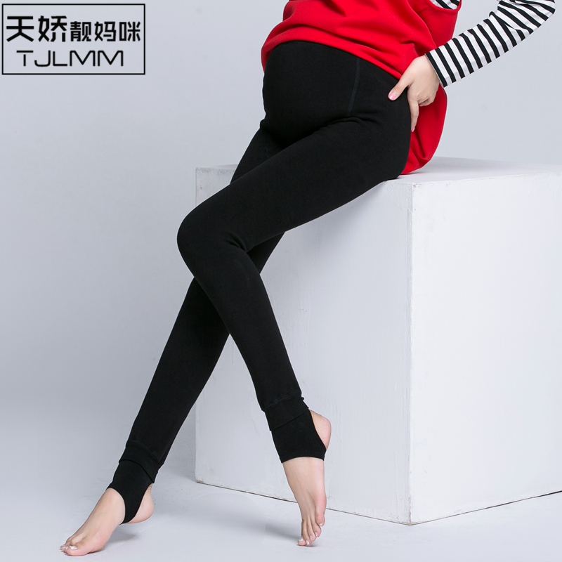 3976ae7fe3500 Get Quotations · Pregnant women leggings big yards high waist trousers fall  and winter outer wear for pregnant women