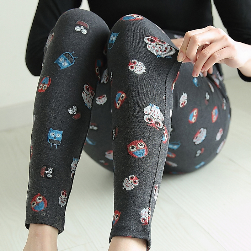 Pregnant women pants fall pregnant women leggings pants fall and winter was thin cotton outer wear long pants spring and autumn thin section pantyhose pants printing