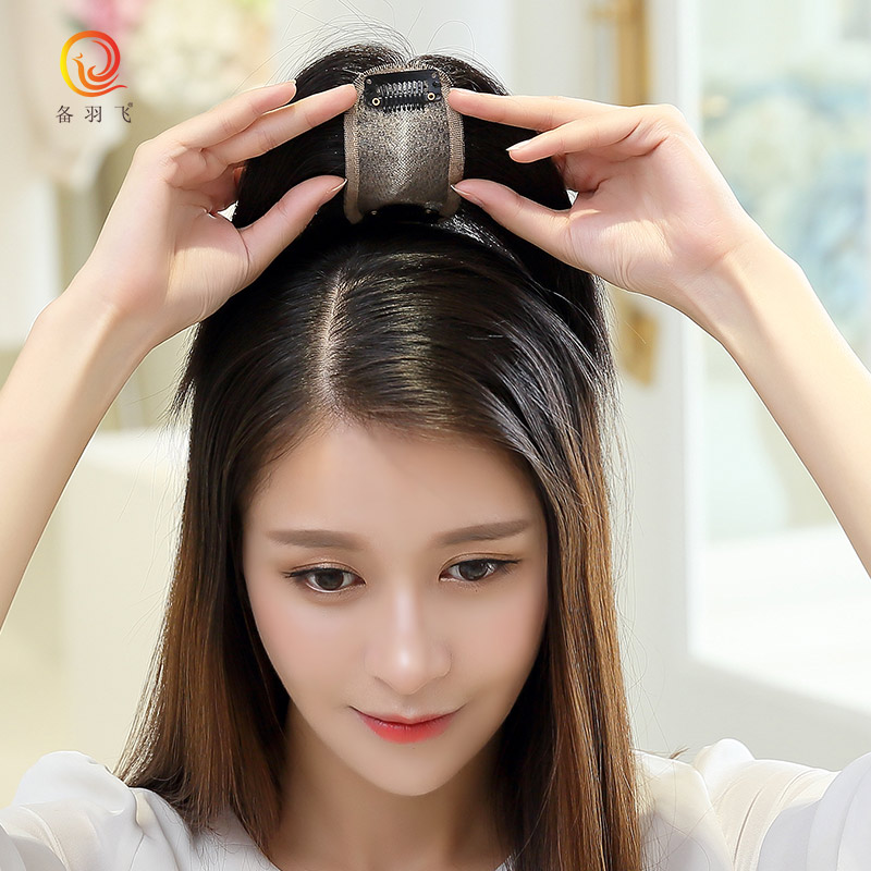 Prepare yufei real hair replacement block head ms. top hand woven hair replacement piece female wig bangs wig piece
