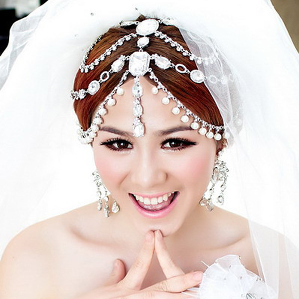 Pretty good cupid love a chain modeling bridal headdress korean wedding dress accessories wedding hair accessories free shipping