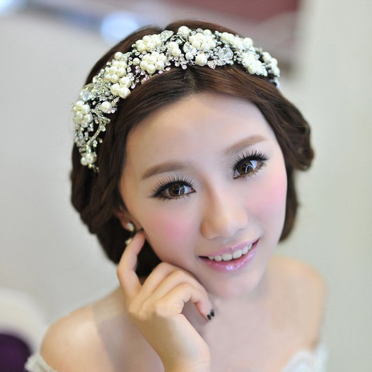 Pretty good shining love korean wedding accessories bridal headdress headdress alloy diamond studio styling hair accessories free shipping