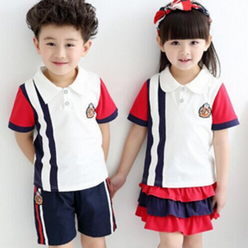 Primary and secondary school uniforms class service in 2016 new summer summer models boys and girls school uniforms class service nursery garden clothes