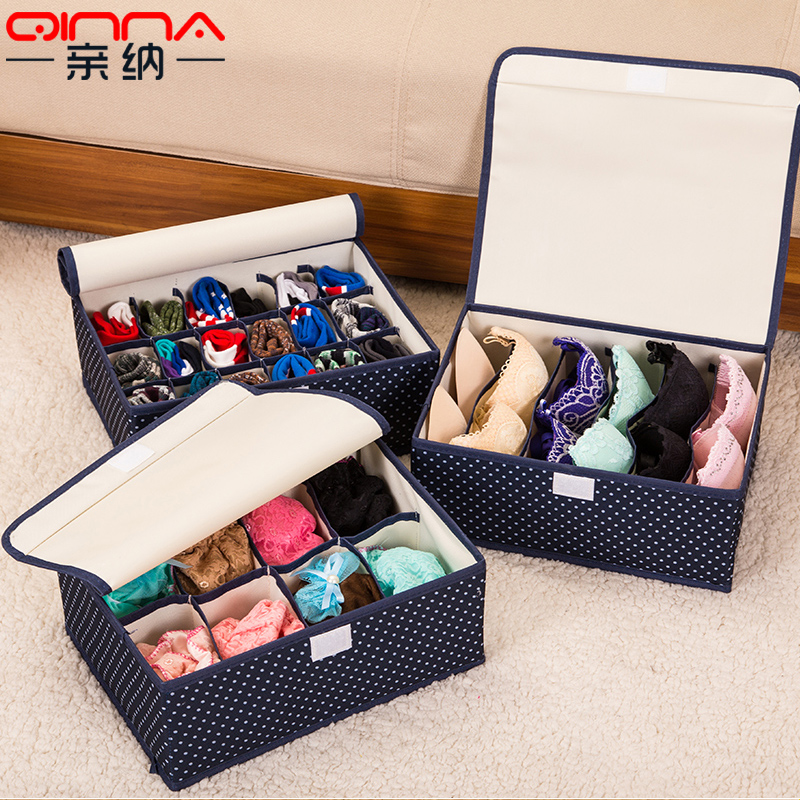 Pro satisfied oxford cloth storage box three sets of underwear bra socks underwear storage drawer storage box finishing