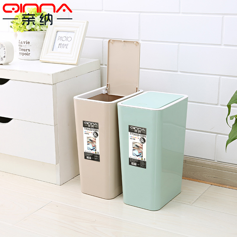 Nice Get Quotations · Pro Satisfied Thick Bathroom Large Kitchen Trash Can Lid  Plastic Wastebasket Trash Creative Household Trash Can