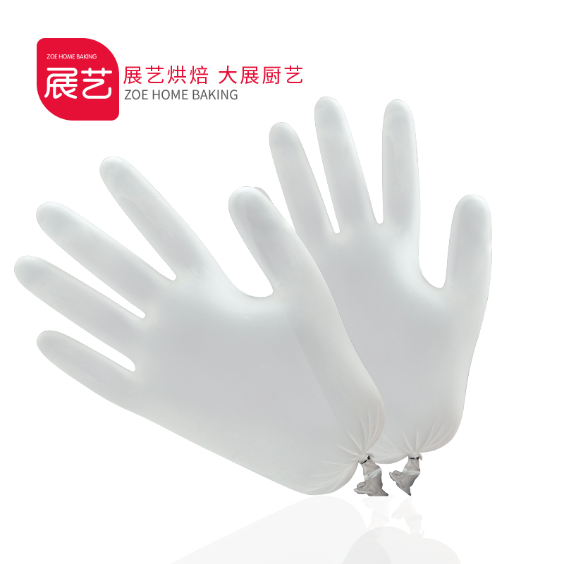 [Product] baking arts exhibition kitchen oilproof pastry moon cake moon cake food grade disposable gloves pvc gloves film gloves 20
