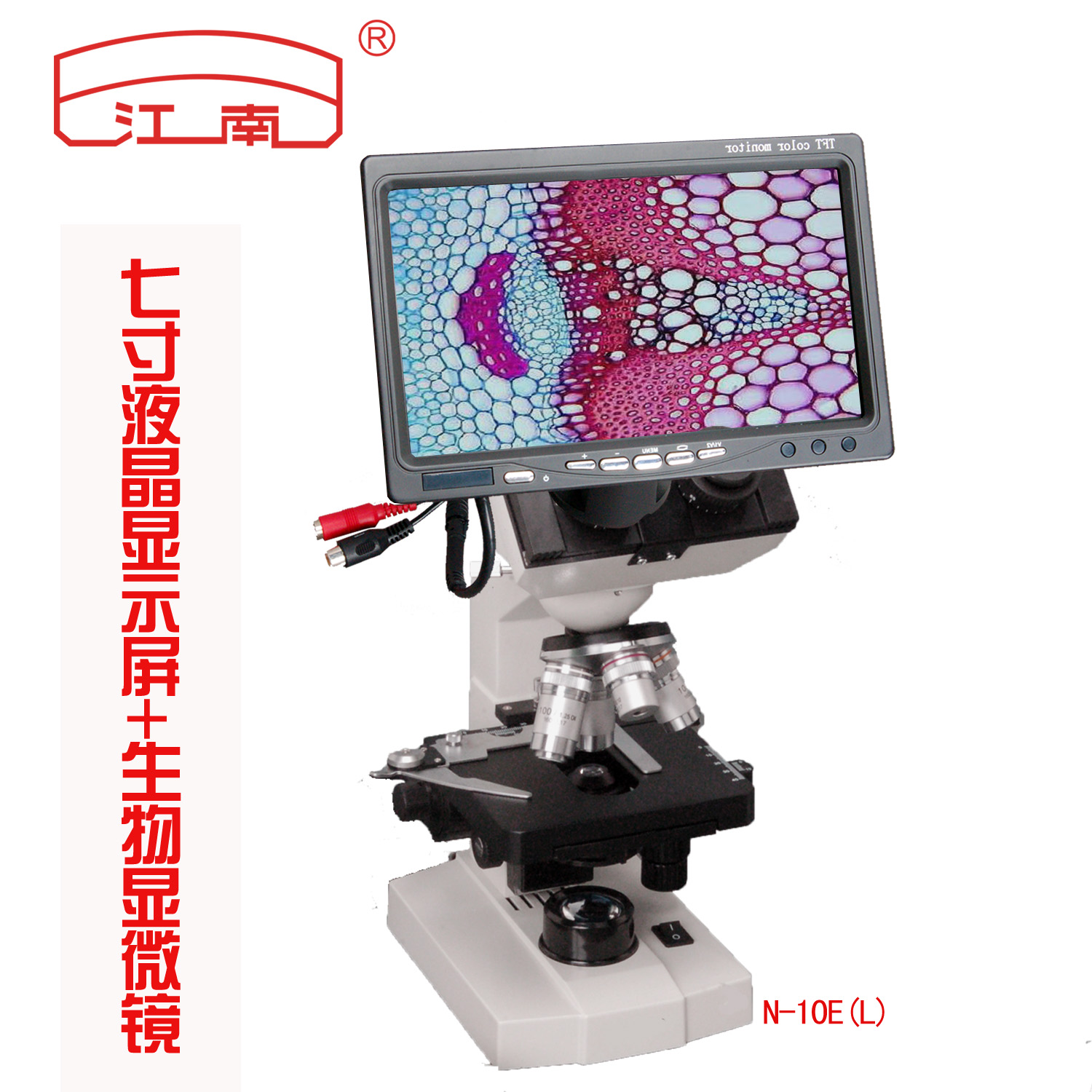 Professional biological microscope 7 inch display can be connected to a computer to tv aquaculture pet medical