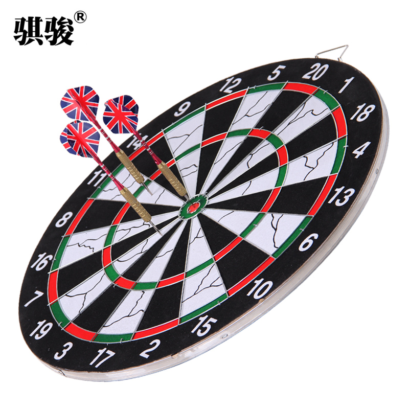 Professional dart board dartboard suit sided flocking dartboard dartboard game home office room fitness send darts needle