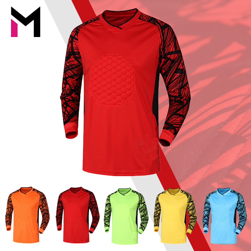 c8e81ed6d Get Quotations · Professional football goalkeeper goalkeeper clothing  clothing goalkeeper goalkeeper jersey long sleeve thick sponge with long  shorts