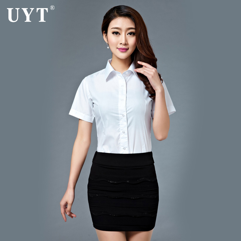 Professional women dress suit short sleeve shirt skirt uyt china mobile china unicom business hall tooling work clothes